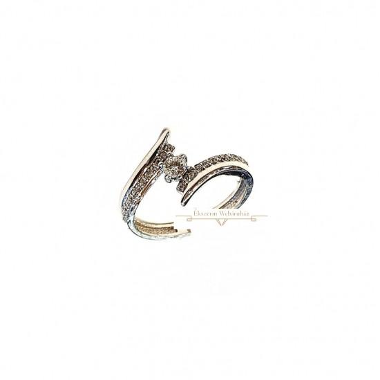 Fehérarany Gyűrű (méret:52) PP 53568